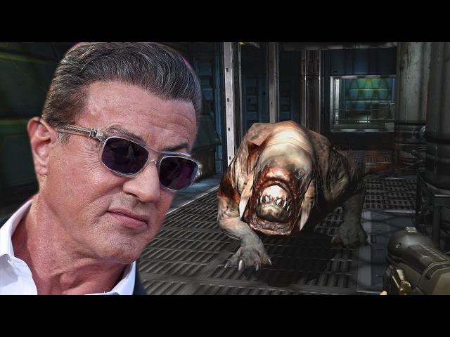 Сильвестр Сталлоне играет в Doom 3