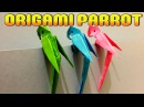 How to make paper 3D Parrot Best Origami Tutorial