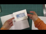Скрапбукинг. Делаю новогоднюю открытку с ножами и штампами с Aliexpress