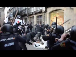 antifa vs italian police