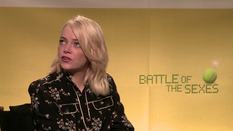 EMMA STONE interview for Battle of the Sexes