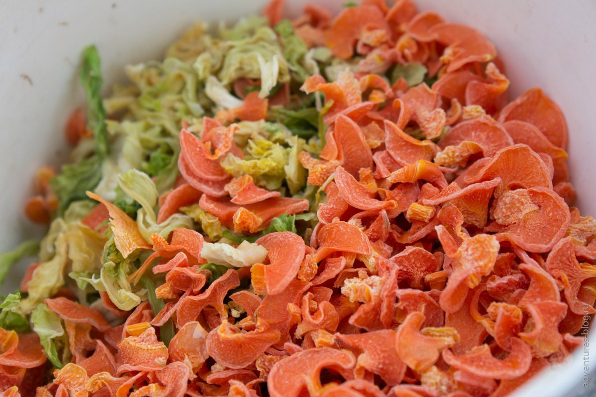 Сушеная капуста и морковь
