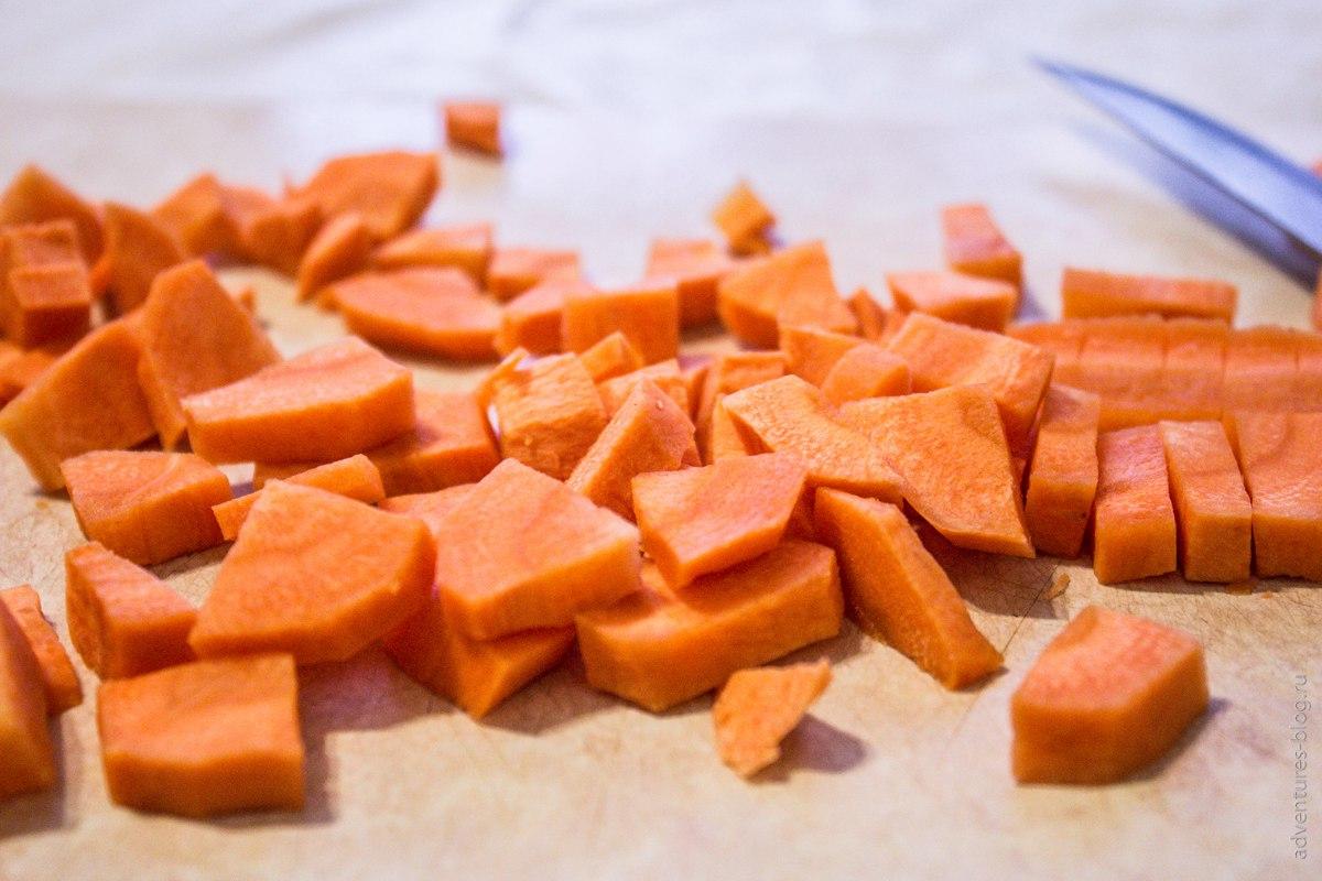 Подготовка овощей для сушки