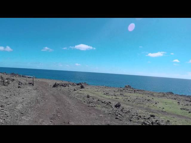 Ile de Pâques Route Lava tube Hanga Roa Gopro Easter island Road Lava tube Hanga Roa