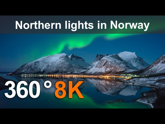 360°, Northern lights in Norway, 12К video