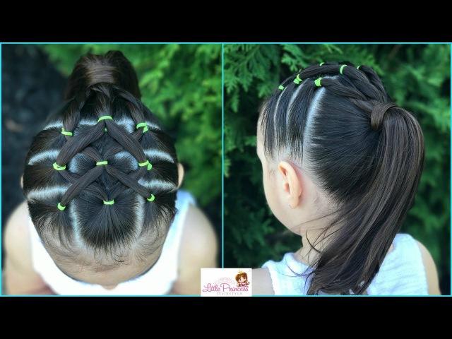 Peinado para niña facil y rapido de hacer con ligas y coleta  Easy hairstyle for girl LPH