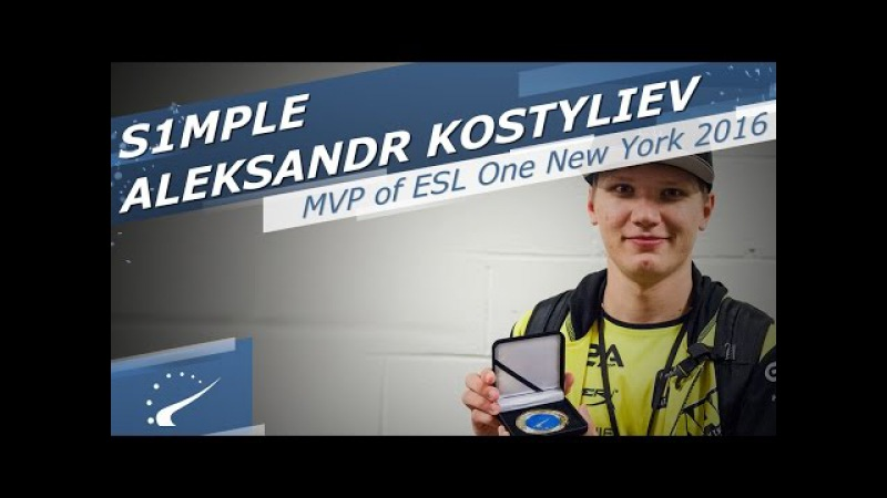 S1mple - HLTV MVP by BenQ of ESL One NY 2016