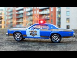 The Blue Police Car in Police Chase   Service & Emergency Vehicles Cartoons for children