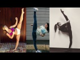 Crazy fighting girls - flexible and strong fitness moments