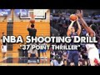 NBA Shooting Drill - 37 Point Thriller (Can You Beat the Pro?)