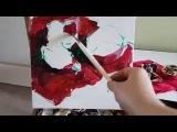 Этюд. Гранат. Красное на красном. Масляная живопись