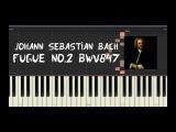 Johann Sebastian Bach - Fugue No.2 BWV847 - Piano Tutorial by Amadeus (Synthesia)