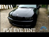 Fly eye headlights tint,film in BMW e46