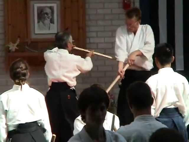 Tamura sensei Lesneven 2005 travail aux armes