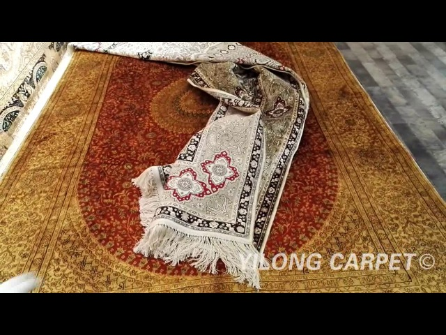 Cashmere Silk Carpet Hand Knotted French Chinese Aubusson Rugs