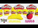 Oyun Hamuru ile Muz ve Elma yapımı-How to make Banana and Apple with Play doh