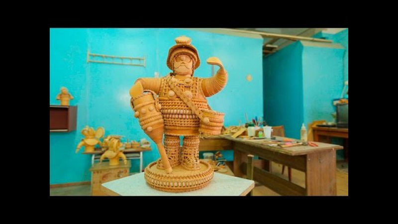 Сделано в Кузбассе HD: Создание берестяной скульптуры шахтёра