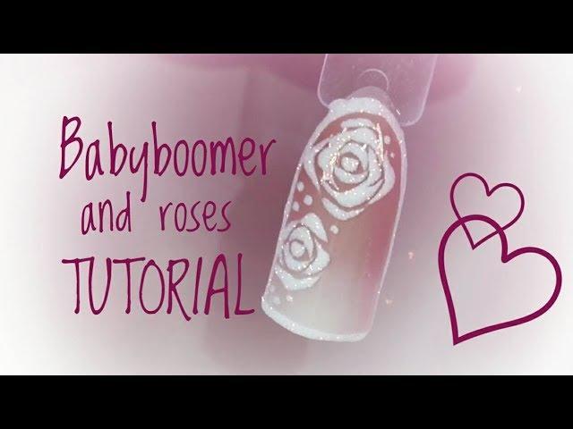 💅💅 Mix Media 💅💅 Babyboomer Sugar Roses Nailart by Natalia