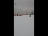 второй раз на лыжах!!! Андрюха РЕСПЕКТ!!!