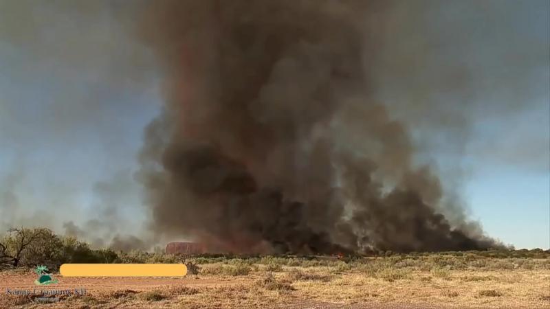 Огненный торнадо: Огненный смерч или зарождение торнадо: Высота до 5км температура до 1000С.