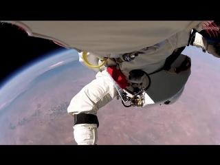 Прыжок со стратосферы с 40км на Землю с камерой GoPro.