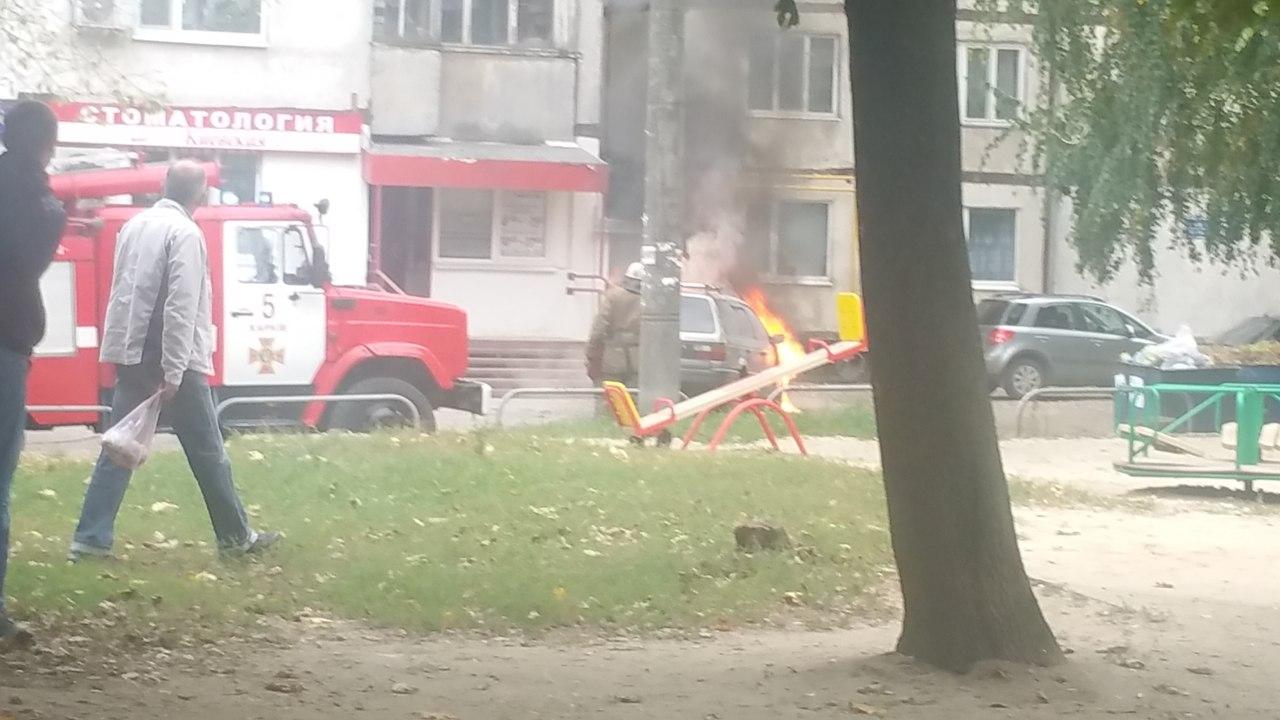 У Харкові згоріла чергова іномарка - фото 1