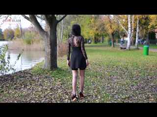 Sommer summer outfit - lace dress with lace tights - abendlook mit spitzenkleid und strumpfhose