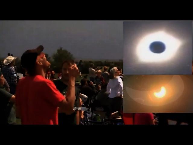 Невероятное видео солнечное затмение в Америке 2017. Даже не каждый американец успел увидеть это чудо!