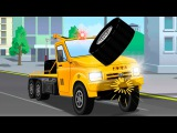 The Tow Truck Accident on the Road - Service Vehicles Cartoon - Cars &amp Trucks Kids Animation