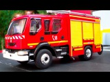 The Fire Truck Adventures with Cars &amp Vehicles Kids Animation Compilation Car Cartoon
