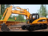The Excavators with Big Trucks in the city - Diggers Cartoons - World of Cars for children