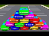 Fun Cars Colors - Learn Numbers with New 3D Vehicles for Kids - Car Cartoon
