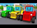 Tractor for Kids Czerwony Traktorek Bajki Traktory Agricultural Machinery Samochody Bajki
