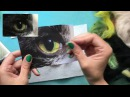 Needle-felted cat's eye tutorial - wool painting by Sarah Vaci