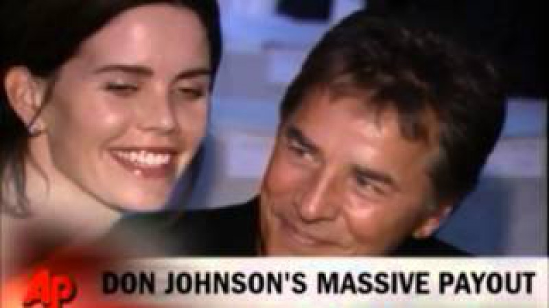 DON JOHNSON - US NEWS 2013 to won lawsuit about Nash Bridges - two small sequences