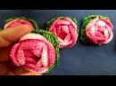 Flor roseta em croche