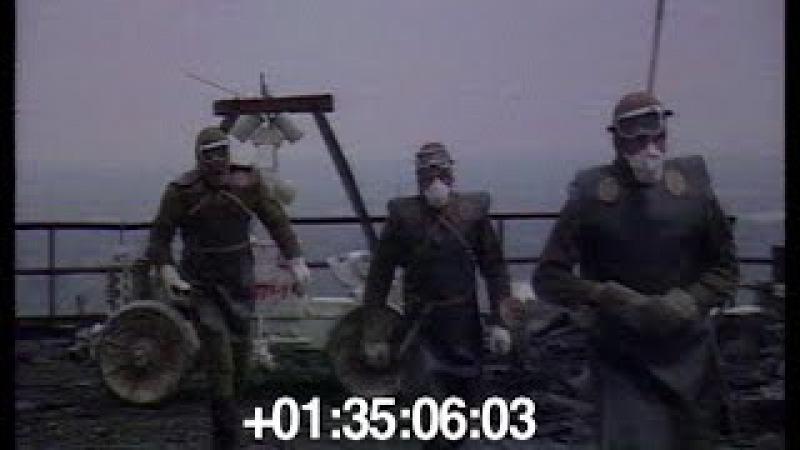 1986. На крыше ЧАЭС. Роботы Федя, Джокер и табуретки на колесах.