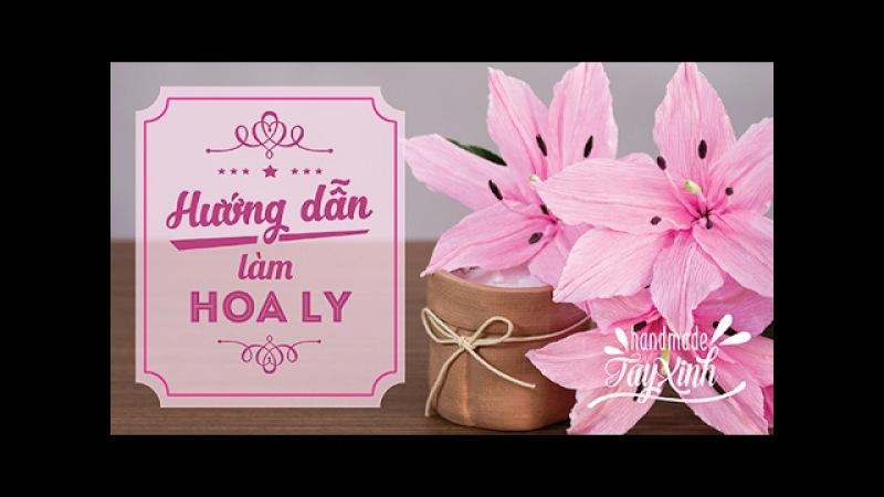 Hướng dẫn làm hoa Ly từ giấy nhún đơn giản nhất nhưng vô cùng xinh đẹp