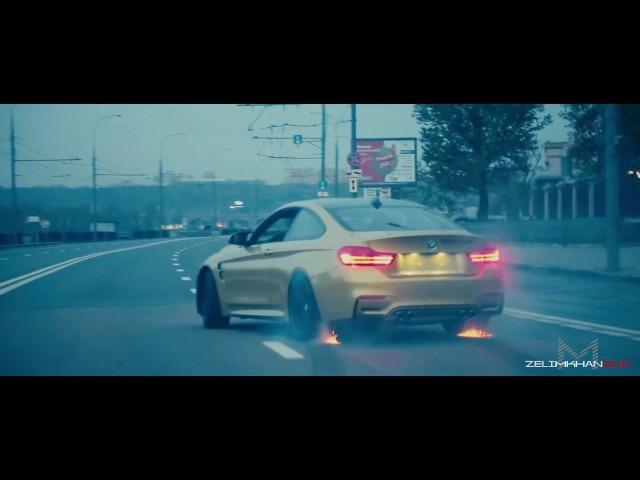 Красивый дрифт в городе Москва-Сити BMW M4/ BMW M4-Crazy Moscow City Driving (zelimkhanshm)