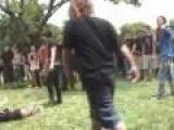 EMO SMASHED !!!  ( hardcore kicks emo's face )