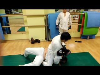 Борьба и удары руками. Амир и Егор.