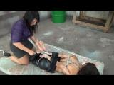 Stefania Mafra Hogtied On The Floor (bondage bound hogtie feet)