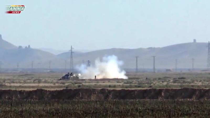 Атака сирийцев в Пальмире с подробным закадровым комментированием Марата Мусина