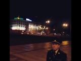 Кортеж Путина едет по перекрытым улицам Иркутска в аэропорт