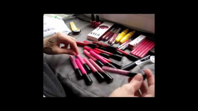 ПОСЫЛКА ИЗ КИТАЯ С САЙТА ALIEXPRESSGel varnish lipstick ANASTASIA, Dose of Colors, KYLIE, MENOW