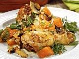 Курица запеченная с тыквой.  Как приготовить вкусно и полезно