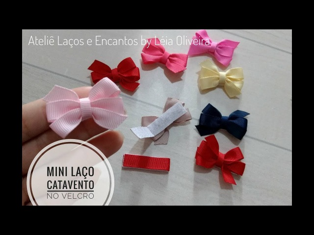 Mini Laço Catavento no velcro