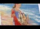 Девушка у моря. Видео урок живописи маслом для начинающих от Игоря Сахарова. Мас ...