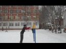 Monkey bar fail in snow