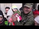 Weitere Tausende Zivilisten aus Ost-Aleppo bekommen humanitäre Hilfe durch Russland